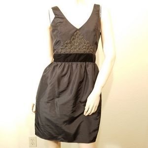 Laundry by Shelli Segal 4 Black Bead Dress